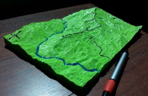 3D printed mining topography