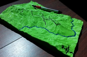 3D printed topography