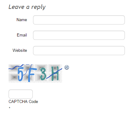 Example of a Captcha
