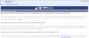 Junior Mining News screenshot
