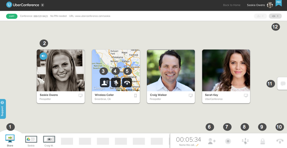 Uberconference screenshot